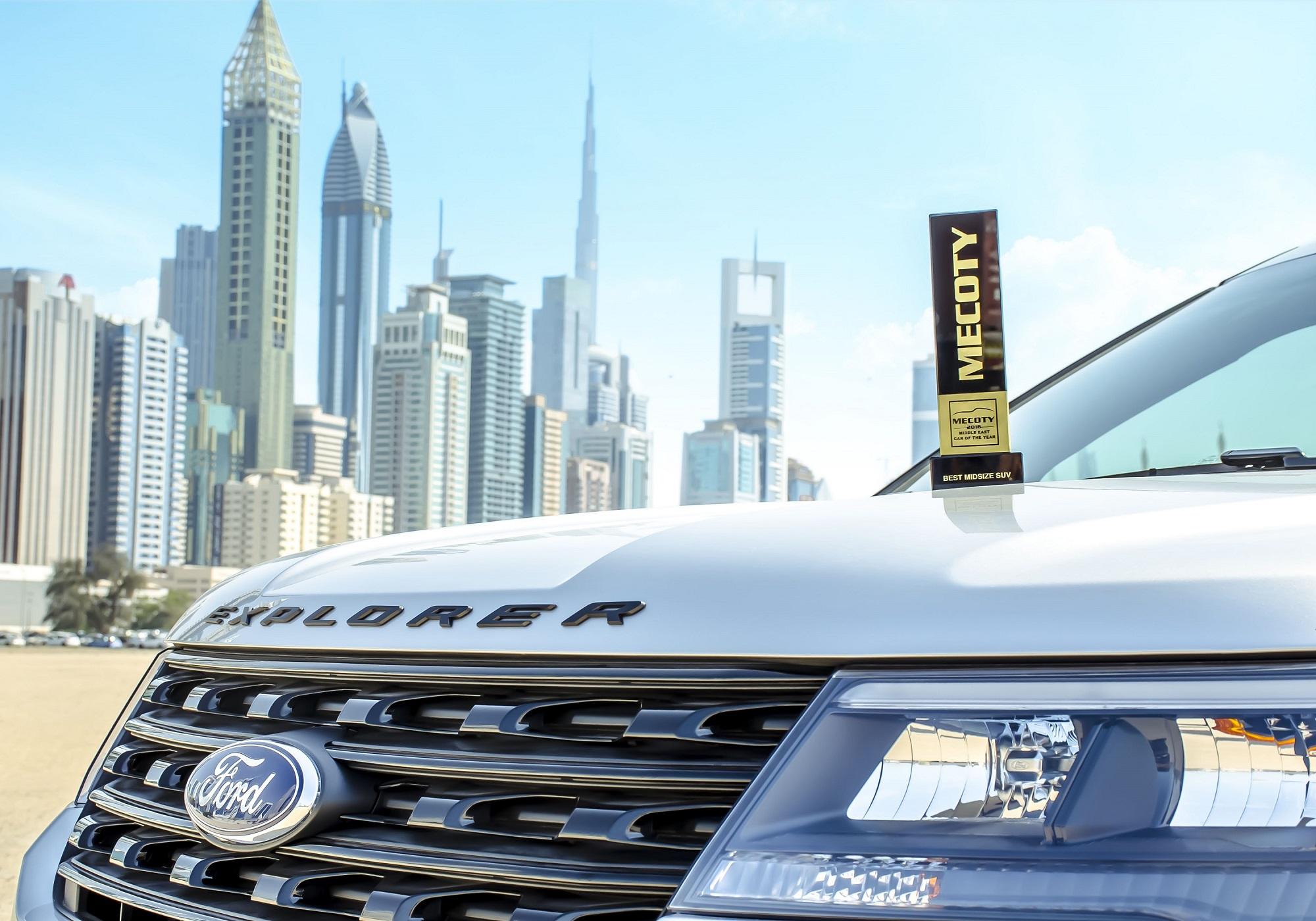 فورد إكسبلورر تفوز بلقب سيارة العام في الشرق الأوسط لسنة 2016