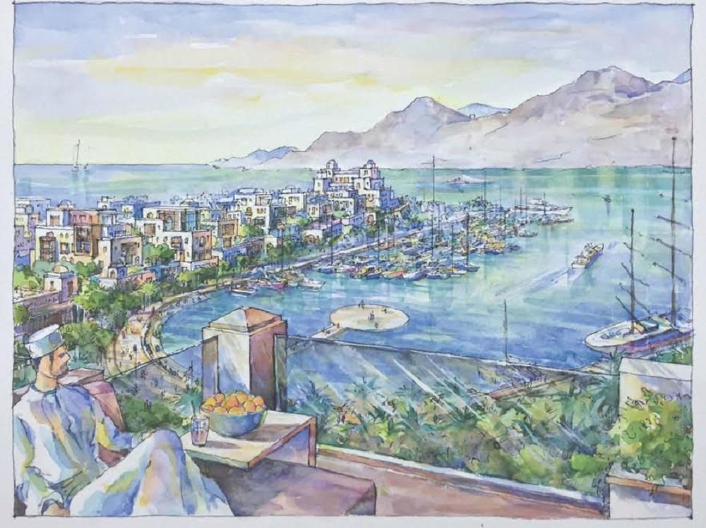 تدشين المرحلة الأولى لمشروع الواجهة البحرية لميناء السلطان قابوس
