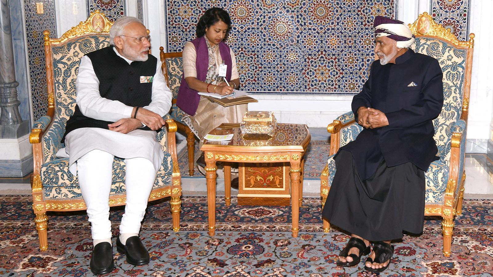 بيان مشترك في نهاية زيارة رئيس الوزراء الهندي للسلطنة
